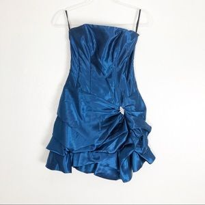 BOGO* Jessica McClintock [3] Blue Mini Dress C40